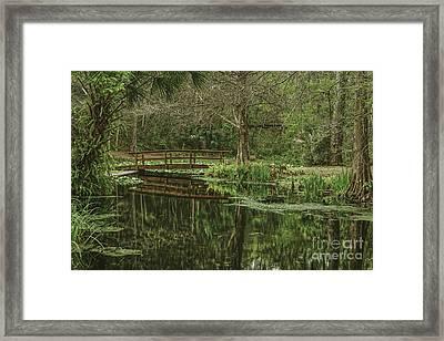 Reflected Bridge Framed Print by Marvin Reinhart