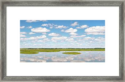 Reflected Clouds - 01 Framed Print