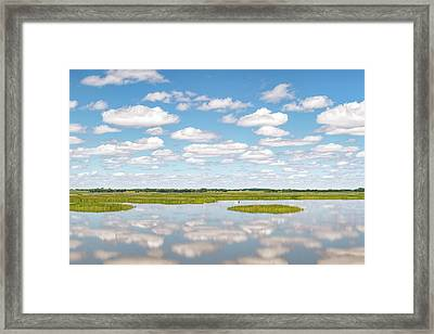 Reflected Clouds - 02 Framed Print