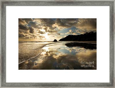 Reflected Costa Rica Sunset Framed Print