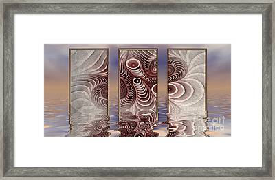 The Broken Fractal Framed Print
