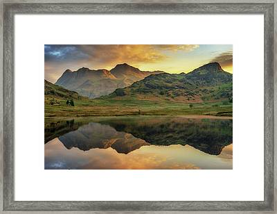 Reflected Peaks Framed Print