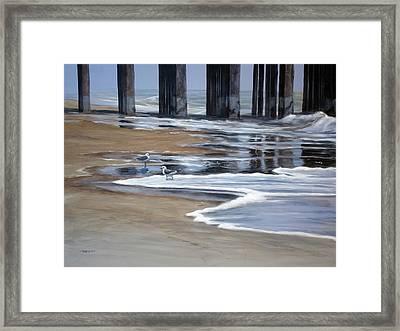 Reflected Pier Framed Print by Christopher Reid