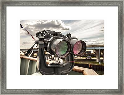 Reflected Power Framed Print by CJ Schmit
