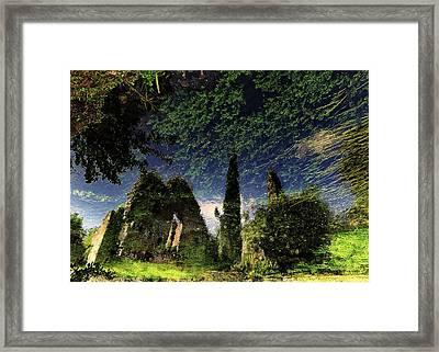 Reflected Ruins Framed Print by Fulvio Pellegrini