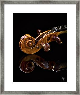 Reflected Scroll Framed Print by Endre Balogh