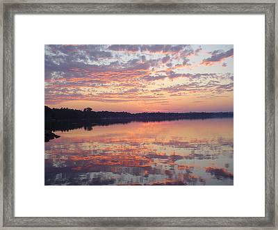 Reflected Sunrise Framed Print by Dennis Leatherman