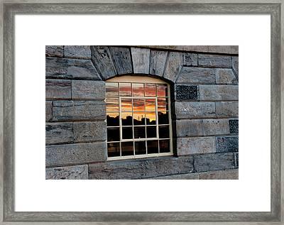 Reflected Sunset Sky Framed Print by Helen Northcott