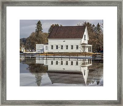 Reflected Town House Framed Print by Tim Kirchoff