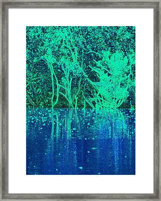 Reflected Trees Framed Print by Rosalie Scanlon