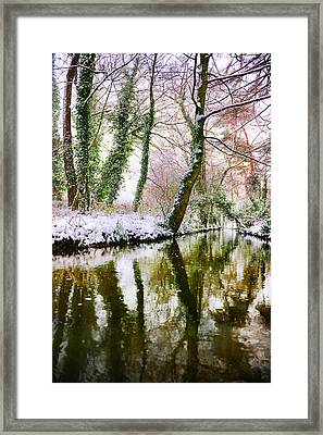 Framed Print featuring the photograph Reflected Winter by Gouzel -