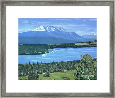 Reflecting Across The Valley Framed Print