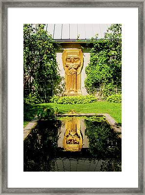 Framed Print featuring the photograph Reflecting Art by Greg Fortier