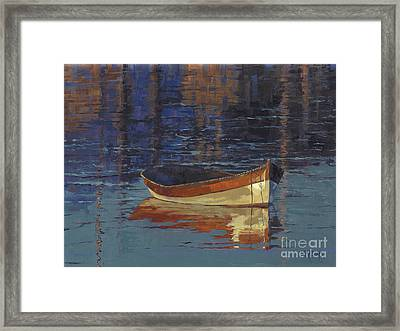 Sold Reflecting At Day's End Framed Print by Nancy  Parsons