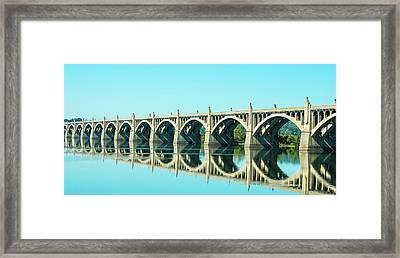 Reflecting Bridge Framed Print