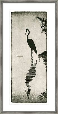 Reflecting Framed Print by Charles Harden