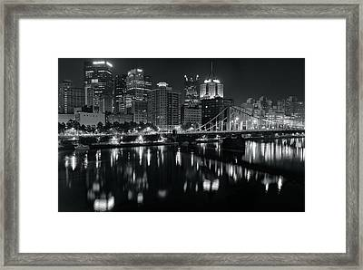 Reflecting In Black And White Framed Print by Frozen in Time Fine Art Photography