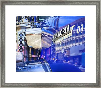 Reflecting On A Kenworth Framed Print