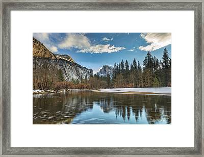 Reflecting On Half Dome Framed Print