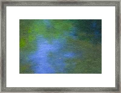 Reflecting On Monet In Sturbridge, Ma  Framed Print by Bill McEntee