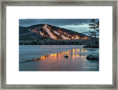 Reflecting On Moose Pond Framed Print by Paul Noble