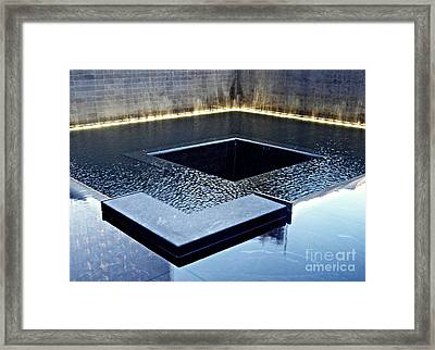 Reflecting On Nine Eleven 1 Framed Print by Sarah Loft