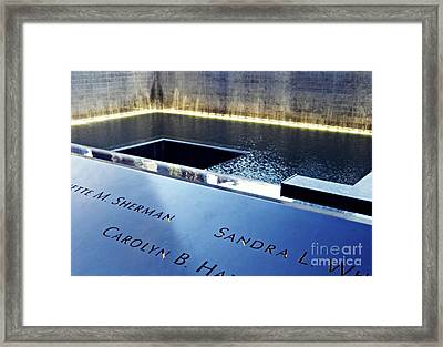 Reflecting On Nine Eleven 2 Framed Print by Sarah Loft