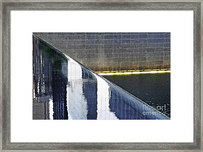 Reflecting On Nine Eleven 3 Framed Print by Sarah Loft