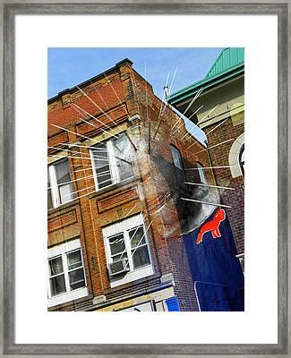 Reflecting On Pain Framed Print by Elizabeth Hoskinson