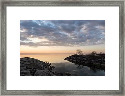 Reflecting On Quiet Peaceful Mornings Framed Print by Georgia Mizuleva