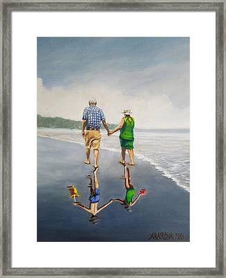 Reflecting On The Past  Framed Print by Jason Marsh