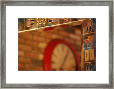 Reflecting On Time Framed Print by Peter  McIntosh