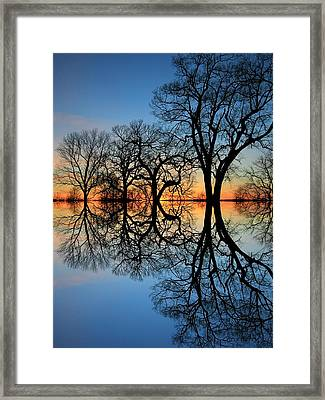 Framed Print featuring the photograph Reflecting On Tonight by Chris Berry