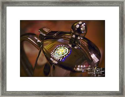 Reflecting Over A Cuppa Tea Framed Print by Julia Bridget Hayes