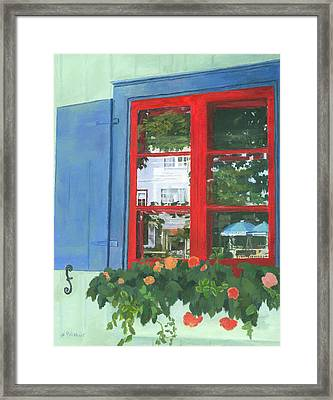 Reflecting Panes Framed Print by Lynne Reichhart