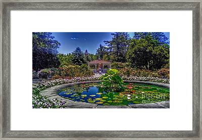 Reflecting Pool At Colonial Park Framed Print