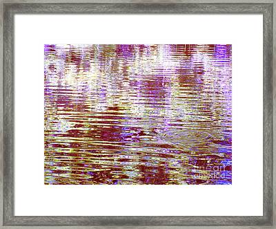 Reflecting Purple Water Framed Print