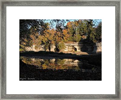 Reflecting Seven Pillars Framed Print by Regine Brindle