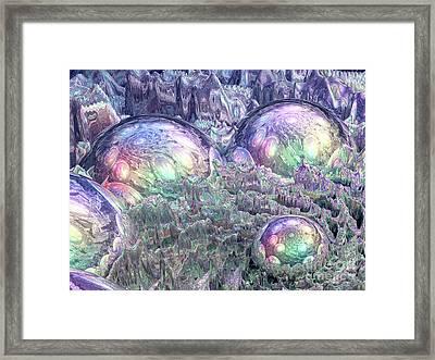 Reflecting Spheres In Space Framed Print