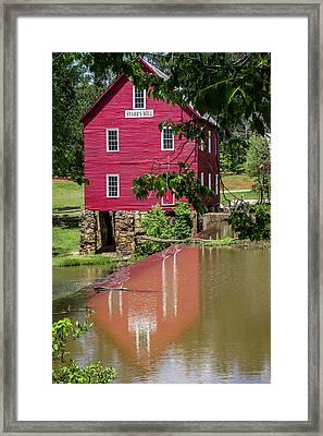 Reflecting Starr's Mill Framed Print