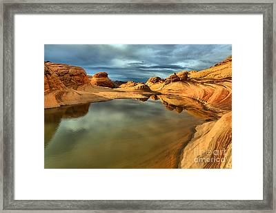 Reflecting The Desert Skies Framed Print by Adam Jewell