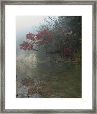 Reflecting Upon Fall Framed Print