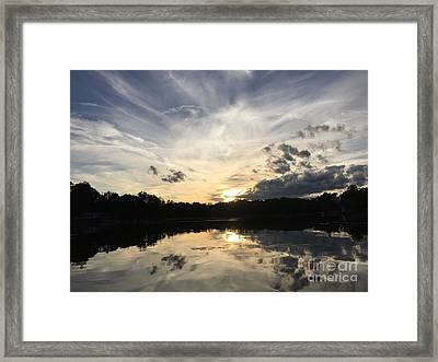 Reflecting Upon The Sky Framed Print by Jason Nicholas