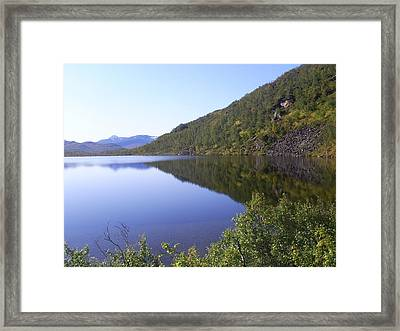 Reflection Framed Print by Ann Caroline Bendiksen