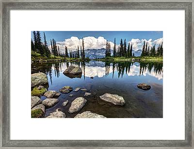 Framed Print featuring the photograph Reflection At Harmony Lake On Whistler Mountain by Pierre Leclerc Photography