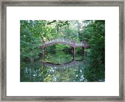 Reflection Bridge Framed Print