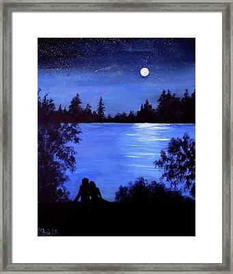 Reflection By The Water Framed Print
