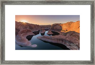 Reflection Canyon, Lake Powell, Utah Framed Print by Henk Meijer Photography