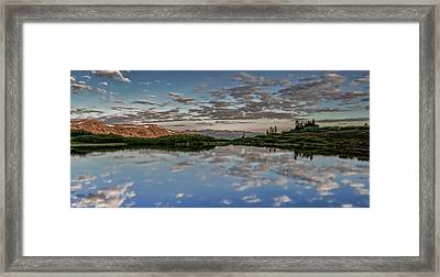 Framed Print featuring the photograph Reflection In A Mountain Pond by Don Schwartz
