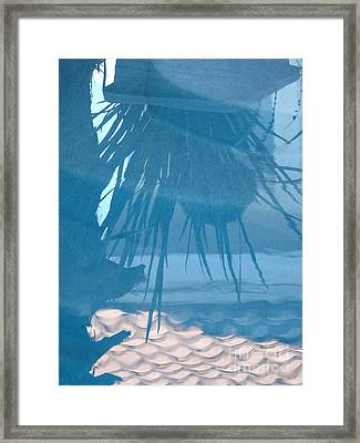 Reflection In Blue Framed Print by Donna McLarty